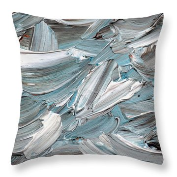 Throw Pillow featuring the painting Abstract Series D010816 by Mas Art Studio