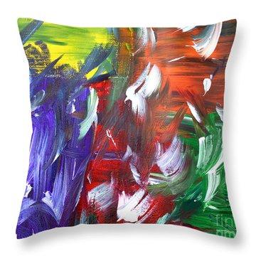 Abstract Series E1015al Throw Pillow