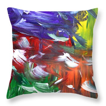 Abstract Series E1015ap Throw Pillow
