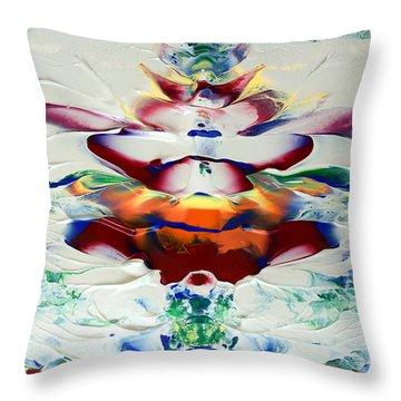 Abstract Series H1015al Throw Pillow