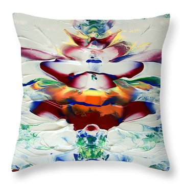 Abstract Series H1015al Throw Pillow
