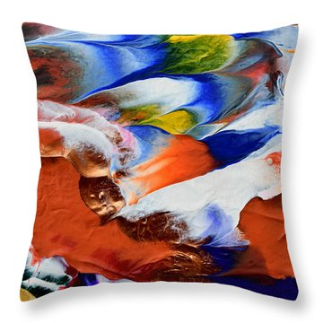 Abstract Series N1015al  Throw Pillow