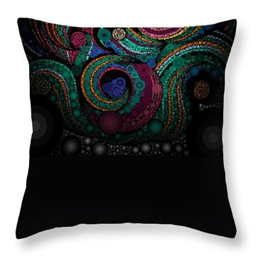 Throw Pillow featuring the pastel Abstract by Sheila Mcdonald