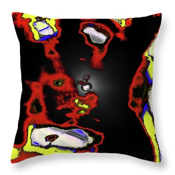 Abstract Shell Creature Throw Pillow by Gina O'Brien