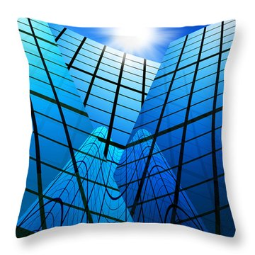 Abstract Skyscrapers Throw Pillow