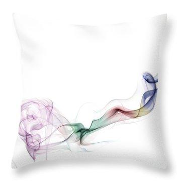 Abstract Smoke Throw Pillow by Setsiri Silapasuwanchai