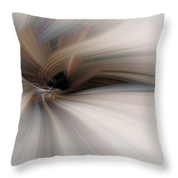 Abstract Soft Flower Throw Pillow