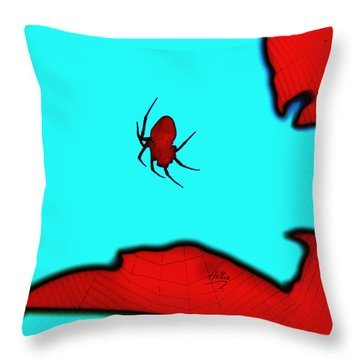 Abstract Spider Throw Pillow by Linda Hollis