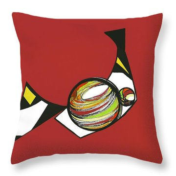 Abstract Still Life Throw Pillow