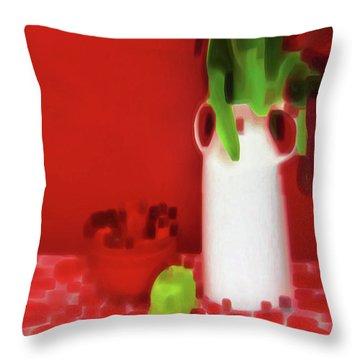 Abstract Still Life Throw Pillow