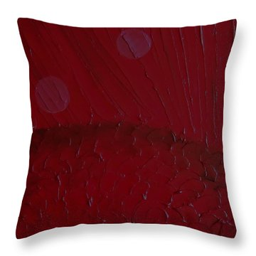 Throw Pillow featuring the painting Abstract Strawberry Field II by Pristine Cartera Turkus