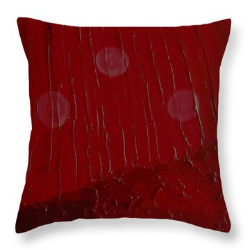 Throw Pillow featuring the painting Abstract Strawberry Fields I by Pristine Cartera Turkus