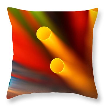 Abstract Straws Throw Pillow by David Warrington