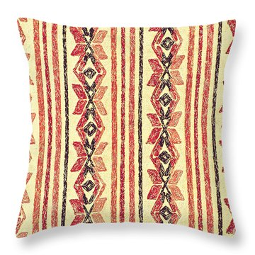Abstract Stripes Pattern Throw Pillow