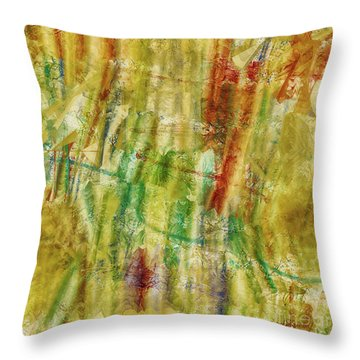 Throw Pillow featuring the digital art Abstract Sunday by Deborah Benoit