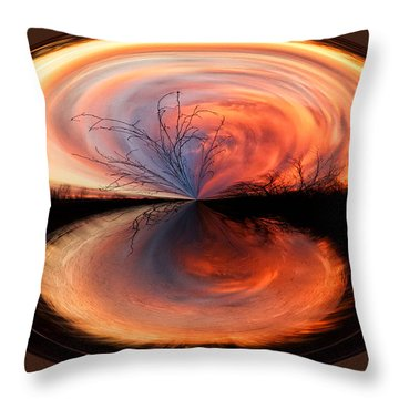Abstract Sunrise Throw Pillow