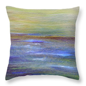 Throw Pillow featuring the painting Abstract Sunset A11317 by MasArtStudio