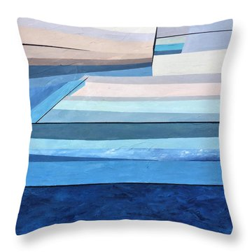 Abstract Swimming Pool Throw Pillow