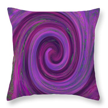 Swirl Abstract 3 Throw Pillow