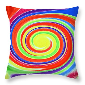 Throw Pillow featuring the painting Abstract Swirl A1 1215 by Mas Art Studio