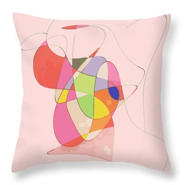 Abstract Swirls Throw Pillow