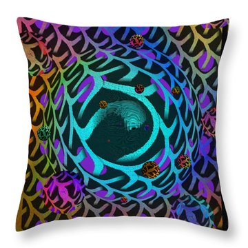 Throw Pillow featuring the digital art Abstract - The Fabric Of Life by Glenn McCarthy Art and Photography