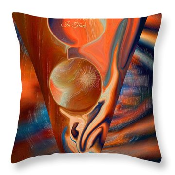 Abstract This Moment In Time Throw Pillow