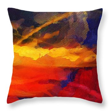 Abstract - Throw  Throw Pillow