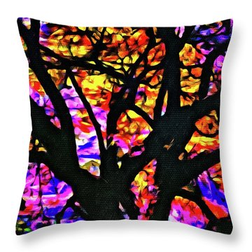 Abstract Tree 304 Throw Pillow