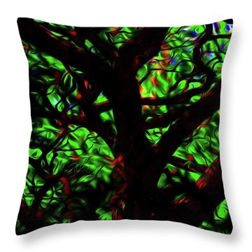 Abstract Tree 493 Throw Pillow