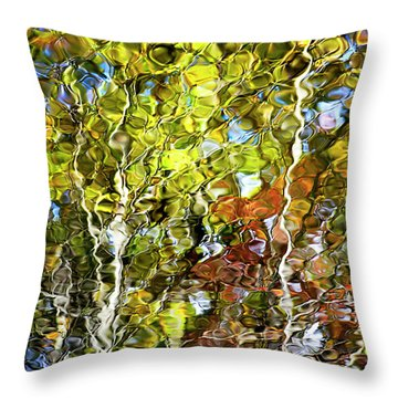 Abstract Tree Reflection Throw Pillow by Christina Rollo