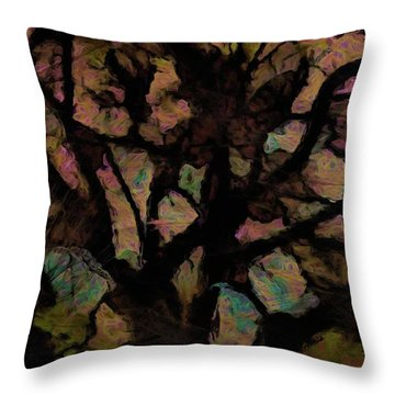 Abstract Tree 4879 Throw Pillow