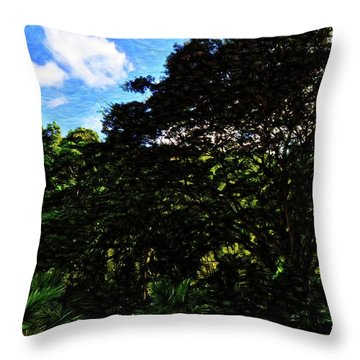Abstract Trees 5804 Throw Pillow
