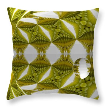 Abstract Tunnel Of Yellow Grapes  Throw Pillow