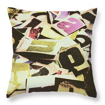 Abstract Typescript Throw Pillow