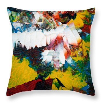 Throw Pillow featuring the painting Abstract U1112a by Mas Art Studio