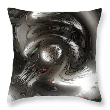 Abstract Underbelly Of The Bean, Chicago Il Throw Pillow