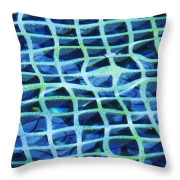 Abstract Underwater Throw Pillow by Eric  Schiabor