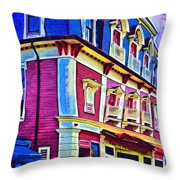 Abstract Urban Throw Pillow
