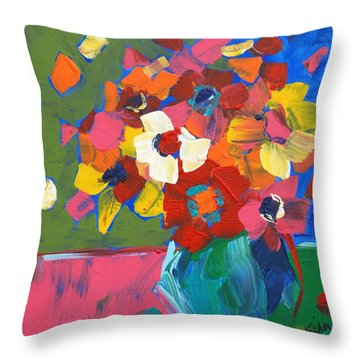 Abstract Vase Throw Pillow