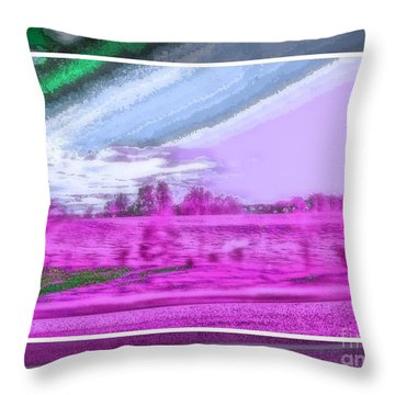 Abstract View Throw Pillow by Shirley Moravec