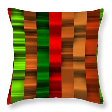 Abstract W-1 Colorist-2 Throw Pillow