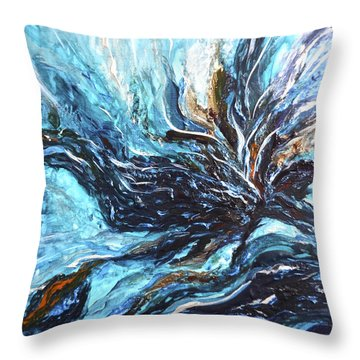 Abstract Water Dragon Throw Pillow