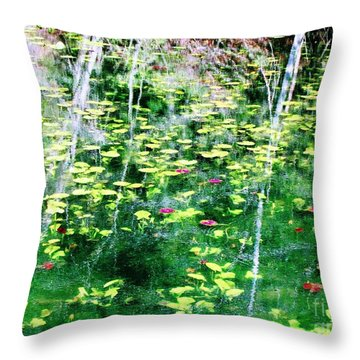 Abstract Water Throw Pillow