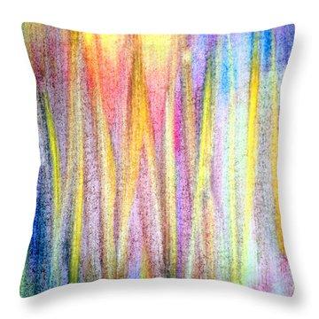 Abstract Watercolor A2 1216 Throw Pillow