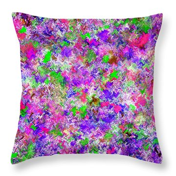 Throw Pillow featuring the painting Abstract Watercolor A22416 by Mas Art Studio
