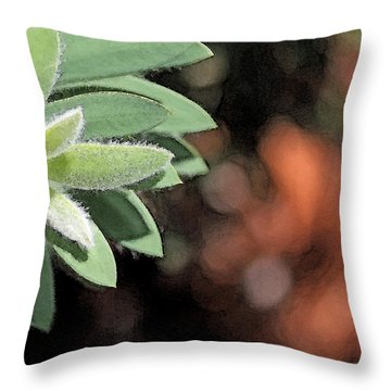Throw Pillow featuring the photograph Abstract Watercolor by Judy Vincent