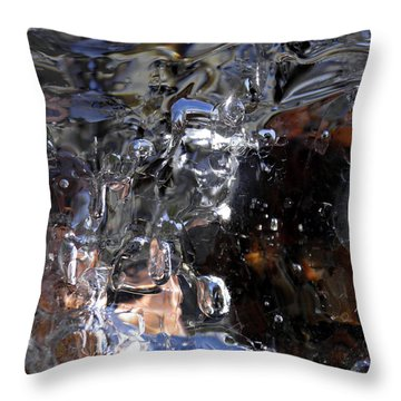 Throw Pillow featuring the photograph Abstract Waterfall by Sami Tiainen