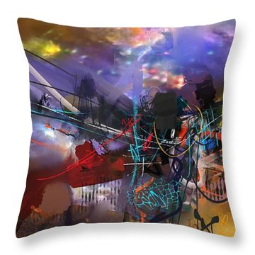 Abstract Week 1 Throw Pillow