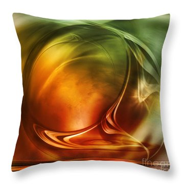 Abstract Whiskey Throw Pillow by Johnny Hildingsson